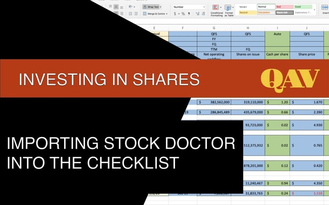 Importing Stock Doctor into our Investing Analysis Checklist